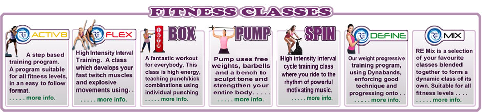 Fitness Classes Available